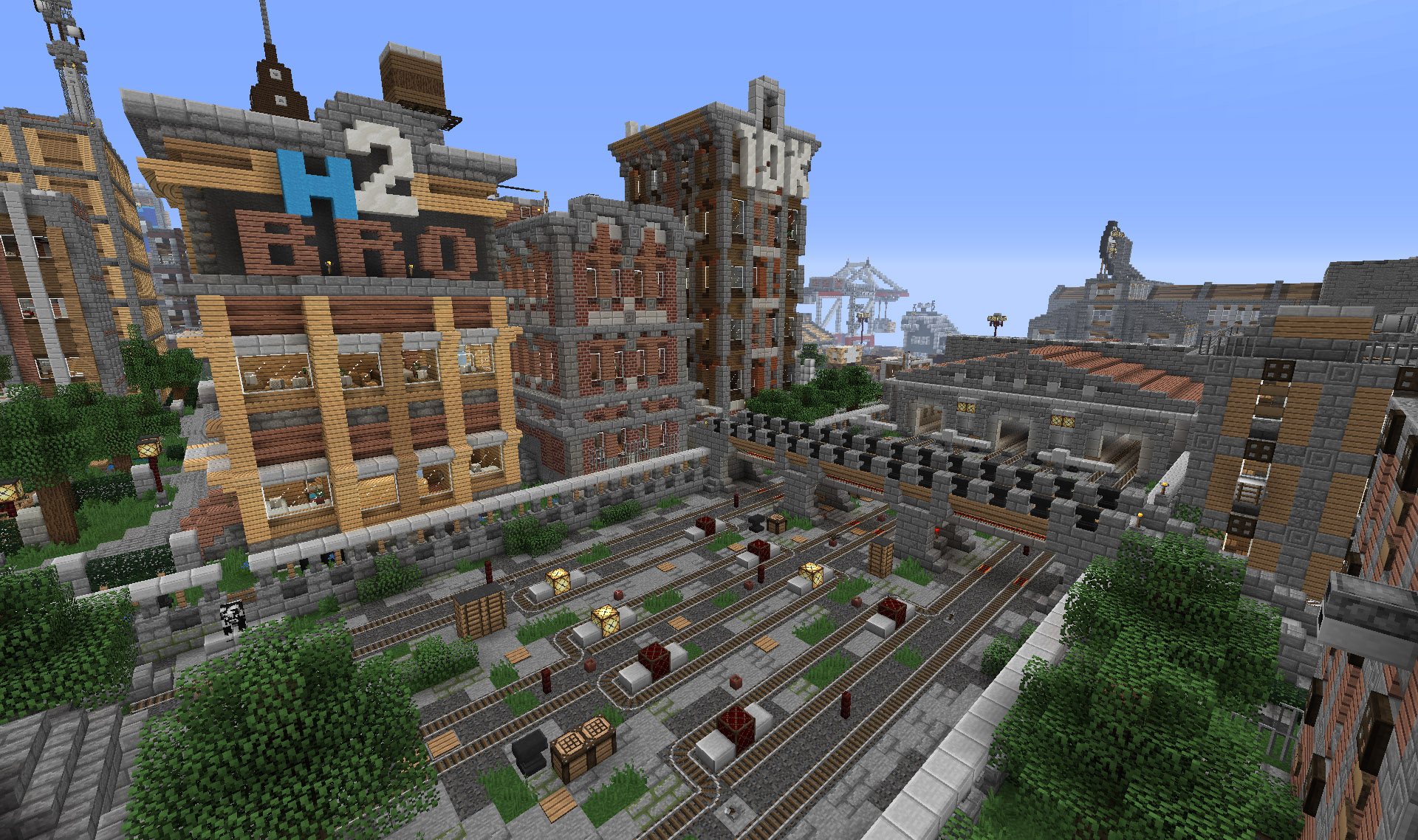 Download Broville v11 - A fully detailed Minecraft sandbox city map